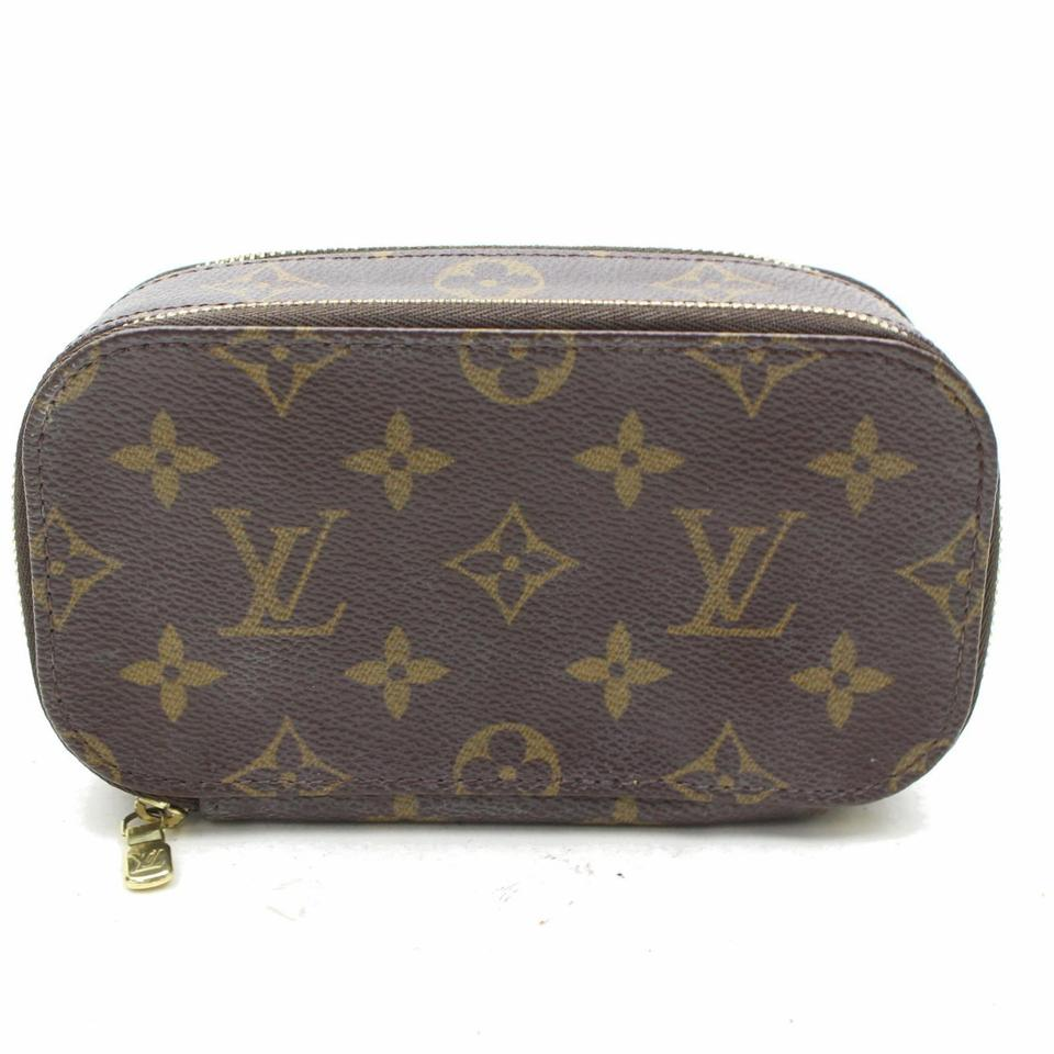 241c6bb917c1 Louis Vuitton Brown Trousse Monogram Blush Pm 867437 Cosmetic Bag ...