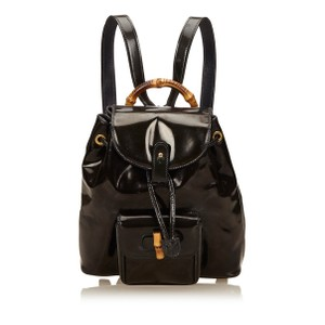 432cf0b06208f0 Added to Shopping Bag. Gucci Bookbag Napsack Schoolbag Backpack. Gucci  Bamboo Mini 867440 Black ...