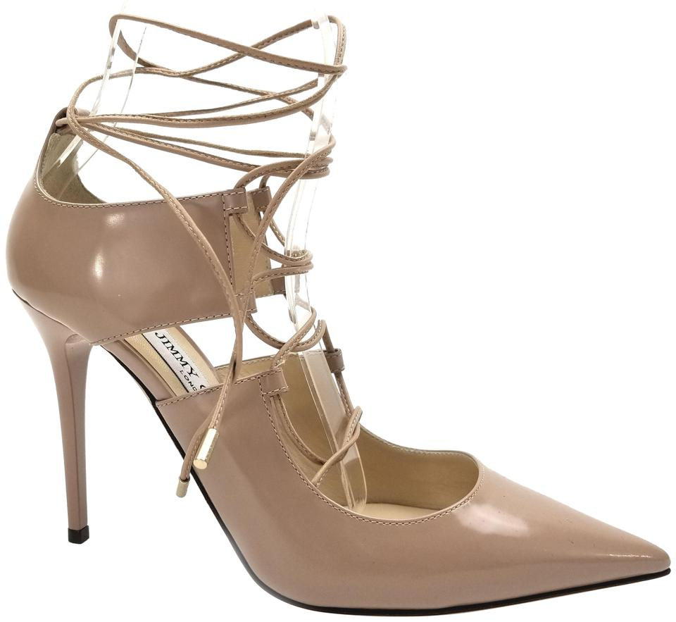 1273c8af05af Jimmy Choo Nude Hoops Lace Up Pumps Size EU 38.5 (Approx. US 8.5 ...