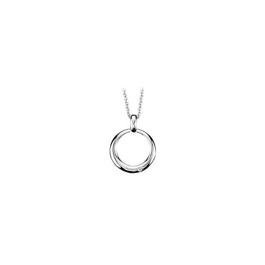 Preload https://img-static.tradesy.com/item/23907890/white-diamond-circle-pendant-in-rhodium-treated-925-sterling-silver-16-inch-necklace-0-0-540-540.jpg