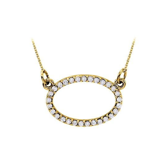 Preload https://img-static.tradesy.com/item/23907951/white-elegant-cubic-zirconia-oval-pendant-in-18k-yellow-gold-vermeil-classy-necklace-0-0-540-540.jpg