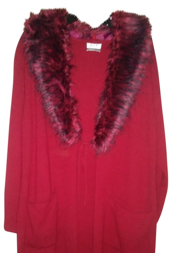 3f36c2297f2 Randolph Duke Faux Fur Collared Sweater Coat Poncho Cape. Size  20 (Plus 1x)  ...