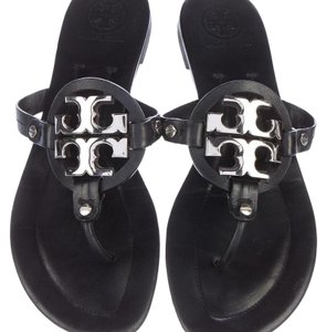 Tory Burch black and silver Sandals