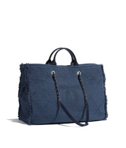 Chanel Shopping Deauville Deauville Travel Tote in Blue
