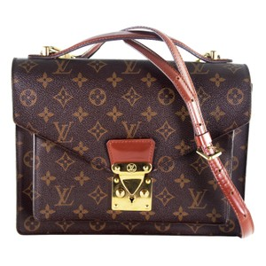 Louis Vuitton Monogram Canvas Monceau Vintage Classic Satchel in Brown