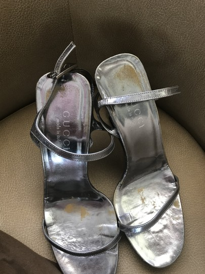 Gucci Metallic Wedges Image 2