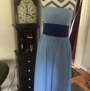 Alfred Angelo Blue Jay/ Cobalt Style 7017 From Modern Bridesmaid/Mob Dress Size 10 (M)