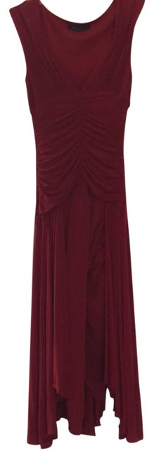 BCBGMAXAZRIA Red Bcbg Mid-length Cocktail Dress Size 6 (S) BCBGMAXAZRIA Red Bcbg Mid-length Cocktail Dress Size 6 (S) Image 1