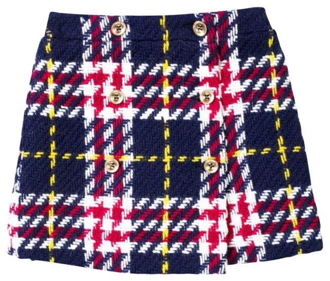 Item - Multi Colored Checked Skirt Size 00 (XXS, 24)