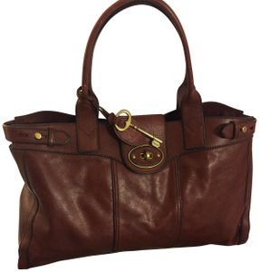 Fossil Shoulder Leather New Brown Travel Bag