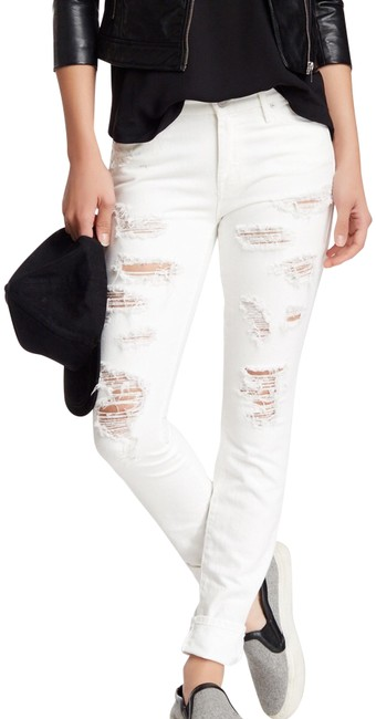Item - White The Looker Destroyed In Party Crashers Skinny Jeans Size 29 (6, M)