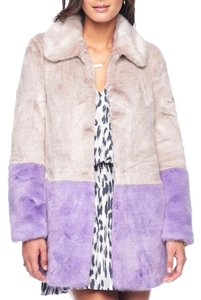 Juicy Couture Faux Pastel Winter Fur Coat