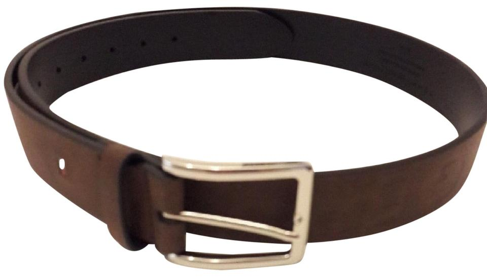 cdb593e0ad Tommy Hilfiger Brown Engraved Leather Men Size 38 Belt - Tradesy