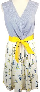Chetta B. by Sherrie Bloom and Peter Noviello short dress White, Blue, and Yellow Nautical Sleeveless A-line on Tradesy