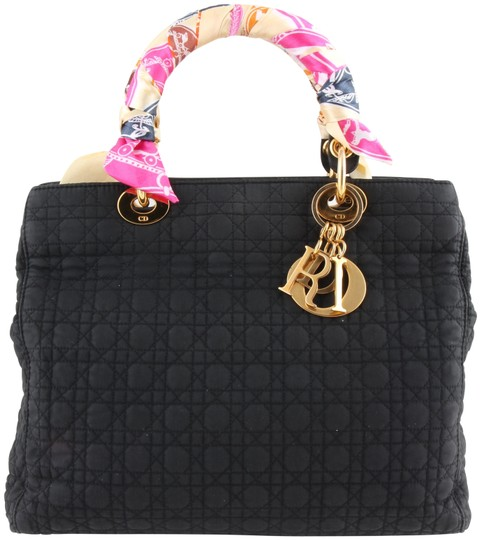 Preload https://img-static.tradesy.com/item/23910606/dior-lady-dior-large-cannage-black-nylon-shoulder-bag-0-1-540-540.jpg