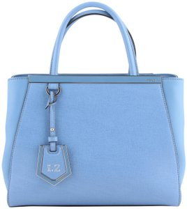 Fendi Shopper Crossbody Handbag Tote in Blue