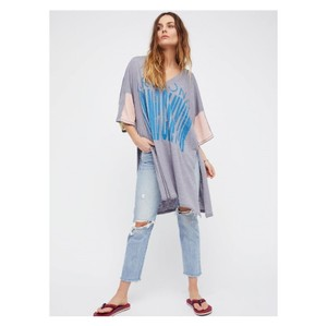 Free People Boho Festival Cover Up Graphic Tee Tunic