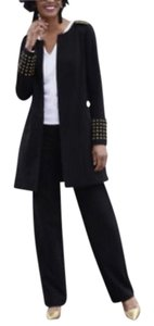 Ashro Ashro Khloe Black 3-Piece Wardrober Duster, Skirt and Pants Set