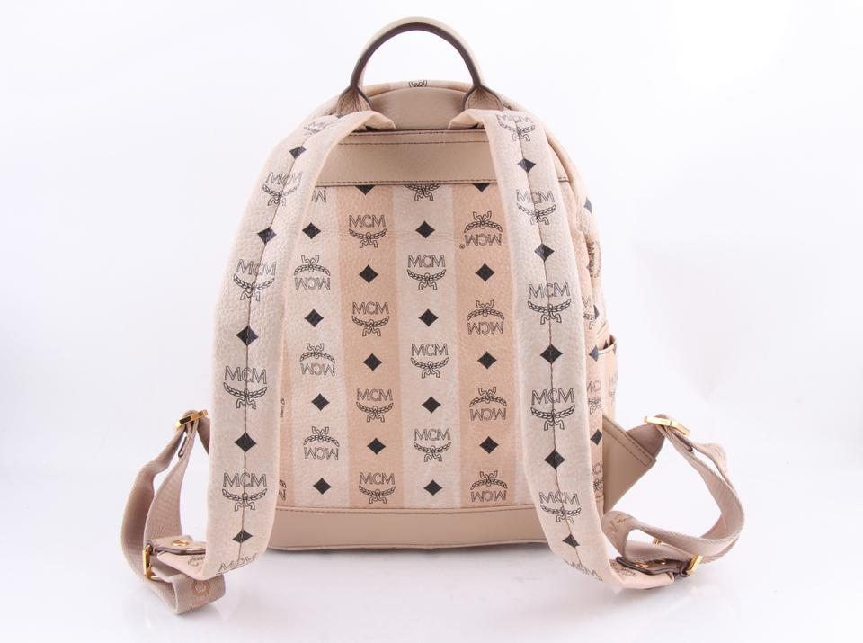 Stark Canvas Backpack Striped MCM Beige Coated Y1xS8qd