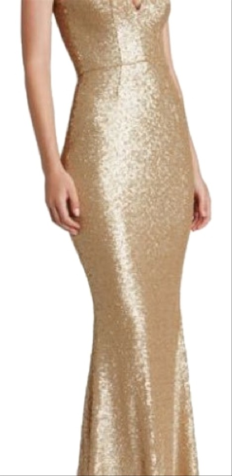 2d70c67d85c85 Dress the Population Glitter Gold Harper Mermaid Sequin Gown Formal Dress