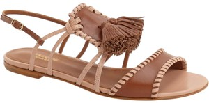 Malone Souliers Brown Whipstitched Tassel Ruth Sandals