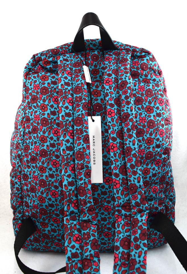 Nylon Quilted Blue Flower Jacobs Multi Backpack Heads M0013960 Marc 0H5qaww