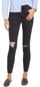 Madewell High Rise Distressed Skinny Jeans-Distressed