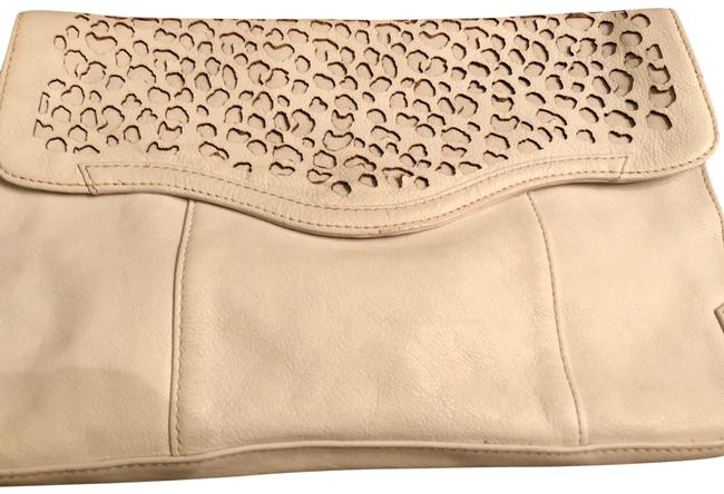 Item - Cheetah Beau Oversized White Leather Clutch