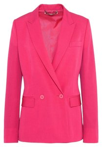 Stella McCartney Wool Jacket Double Breasted Hot Pink Blazer