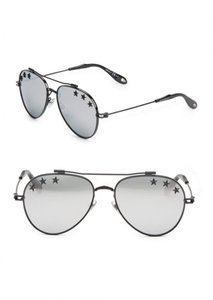 Givenchy NEW Givenchy 7057/S Stars Silver Mirrored Aviator Sunglasses