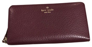 Kate Spade Kate Spade Full Zip Purple Wallet-fits IPHONE 8 with case