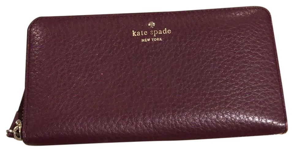 official photos bc429 68112 Kate Spade Purple Full Zip Wallet-fits Iphone 8 with Case Tech Accessory  77% off retail