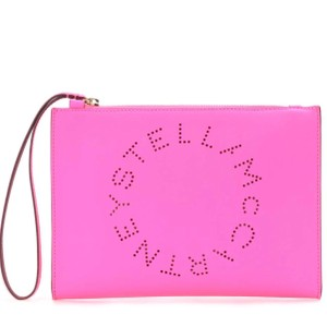 Stella McCartney Clutch Perforated Wristlet in Pink
