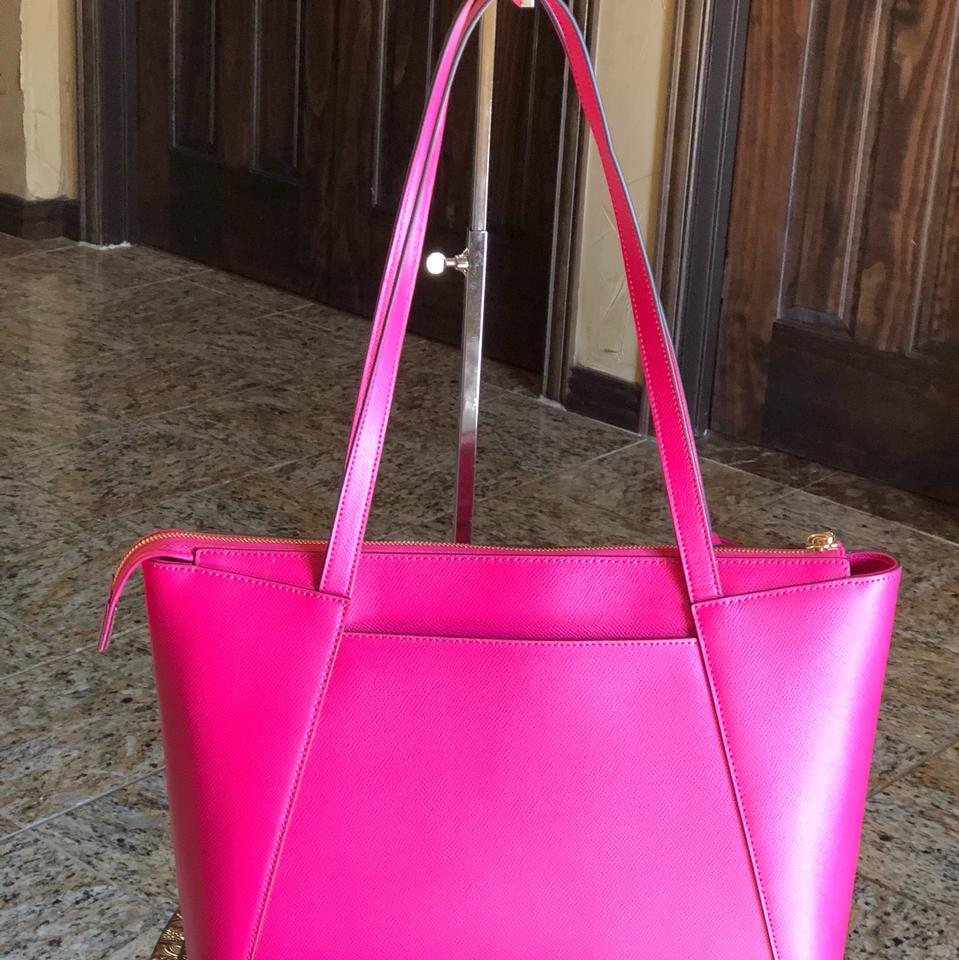 fffa2b919609 Michael Kors East West Bag Maddie Medium Pink Leather Tote - Tradesy