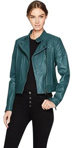 Bagatelle Moto Quilted Leather Biker Motorcycle Jacket