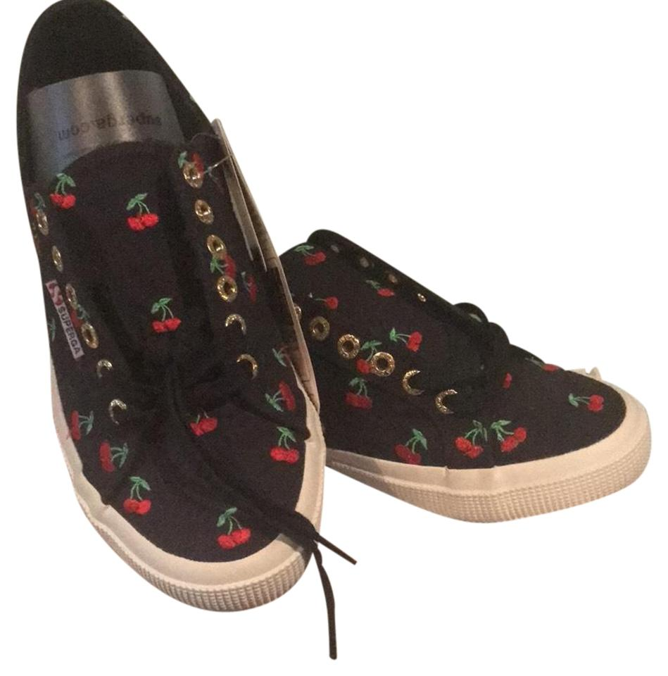 39553162c08f Superga Black W Red 3760 Cherries Embroidered Sneakers. Size  US 8.5 ...