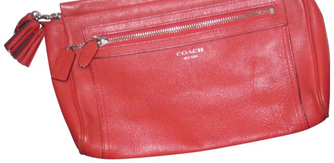 Item - Legacy Coral/Persimmon Leather Clutch