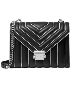 Michael Kors Clutch/Crossbody Leather Silver-tone Hardware Shoulder Bag