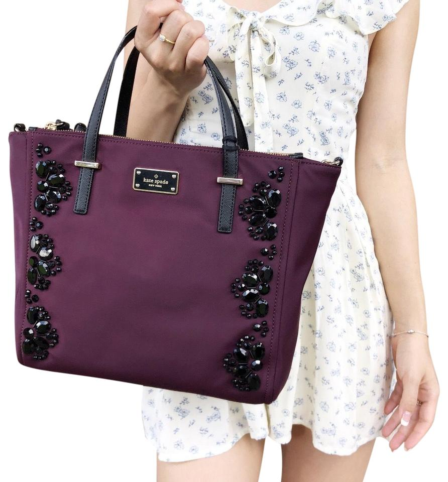 9897b22799bb Kate Spade Wilson Road Alyse Tote New With Tag Satchel in Deep Plum Image 0  ...