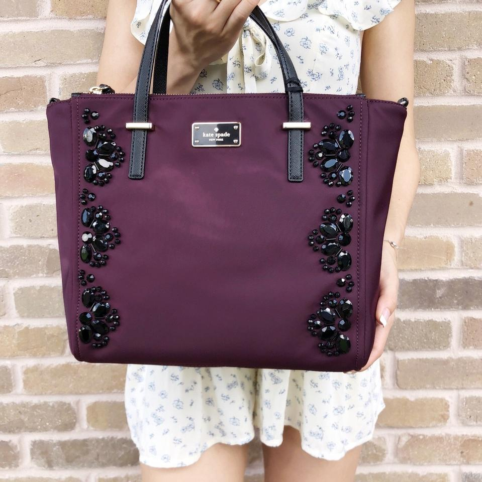 1507010931ab Kate Spade Wilson Road Alyse Tote New With Tag Satchel in Deep Plum Image  9. 12345678910