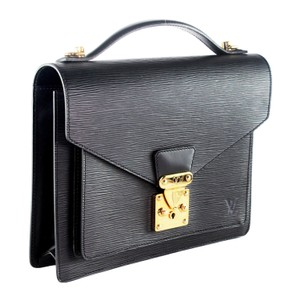 Louis Vuitton Monceau Bags Like New Classic Satchel in Black 6455