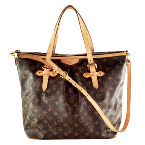 Louis Vuitton Monogram Palermo Gm Canvas Leather Tote in Brown