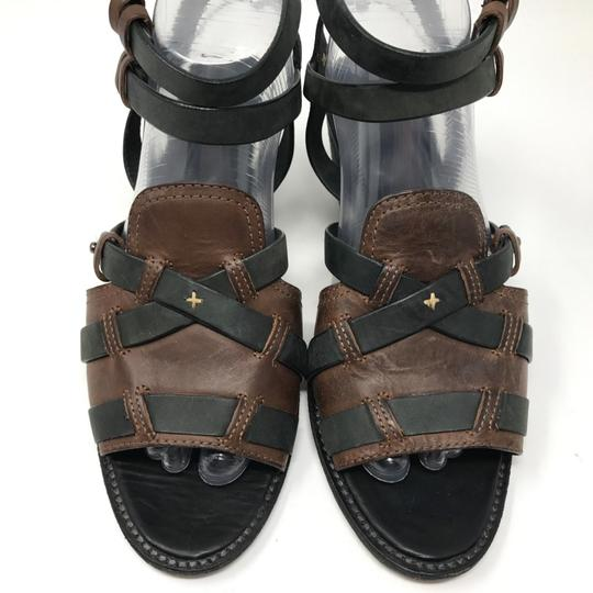 Rag & Bone Ankle Strap Two-tone Open Toe Leather Black Sandals Image 2