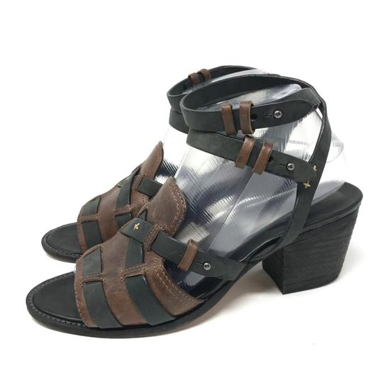 Rag & Bone Ankle Strap Two-tone Open Toe Leather Black Sandals Image 3