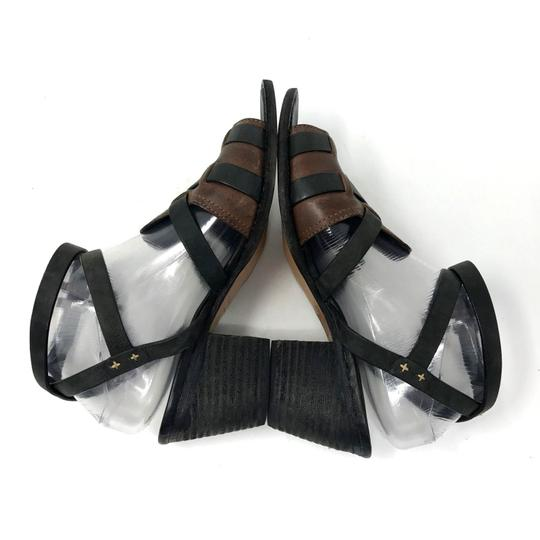 Rag & Bone Ankle Strap Two-tone Open Toe Leather Black Sandals Image 4