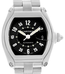 Cartier Cartier Roadster Large Mens Steel Black Dial Watch W62004V3