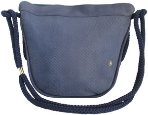 Bally Nautical Nubuck Leather Vintage Shoulder Bag