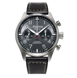 Alpina New Smartimer Pilot Chronograph Men Leather