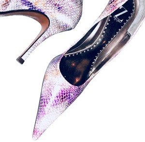 Sergio Zelcer multi color purple white Pumps