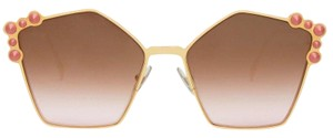 Fendi NEW Fendi 0261/S Oversized Pearl Gradient Mirrored Sunglasses